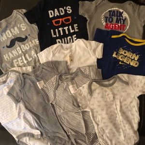 Short-sleeved Onesie Lot! Gap, Nike, Burt's Bees